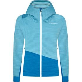 La Sportiva Aim Sudadera Capucha Mujer, pacific blue/neptune